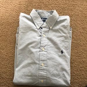 Blue polo dress shirt